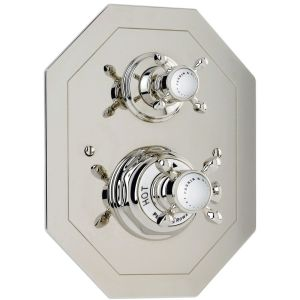 Perrin & Rowe Traditional Concealed Thermostatic Shower Mixer, Cross