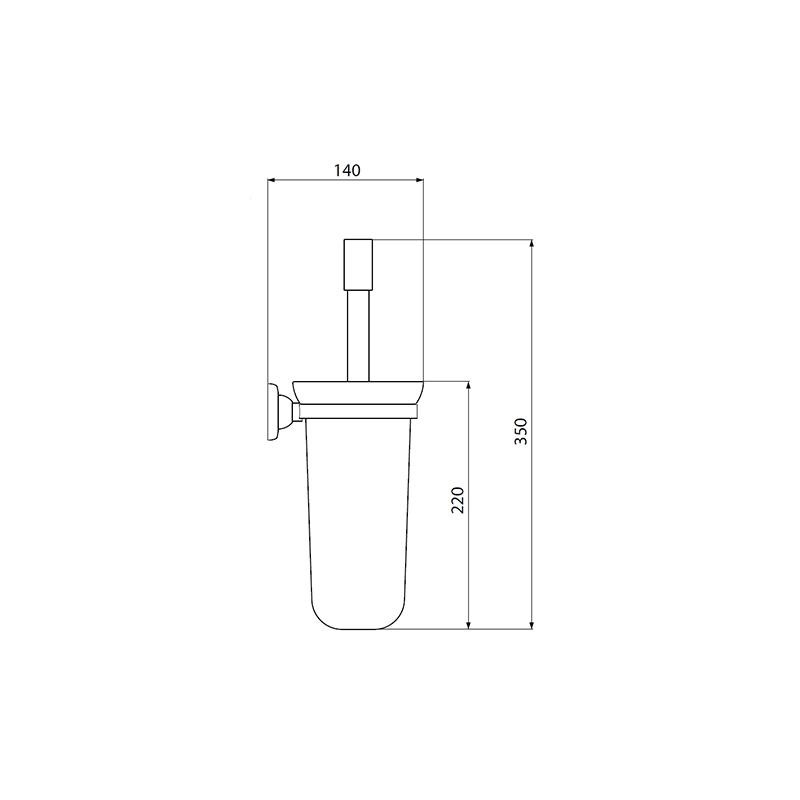 Perrin & Rowe Wall Mounted Toilet Brush Holder Chrome