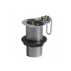 Perrin & Rowe Traditional Unslotted Basin Waste, Metal Plug, Stay & Chain