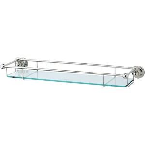 """Perrin & Rowe 20"""" Glass Shelf Chrome"""