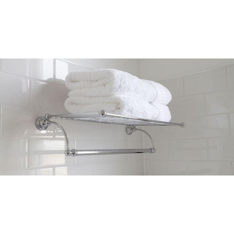 "Perrin & Rowe 20"" Towel Rack Chrome"