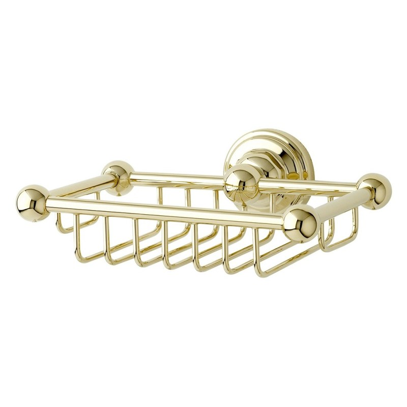 Perrin & Rowe Wall Mounted Soap Basket Pewter