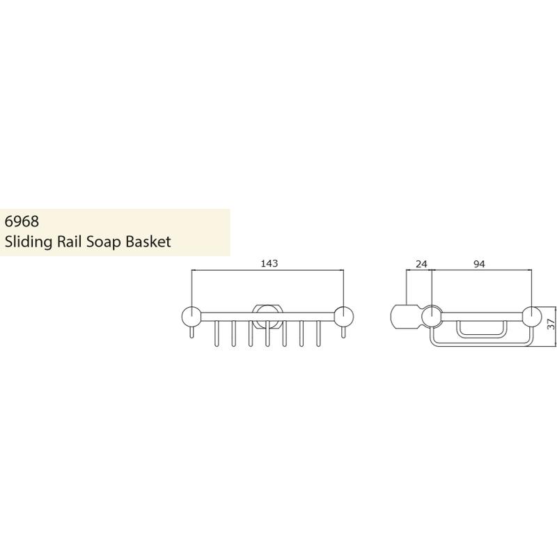 Perrin & Rowe Sliding Rail Soap Basket Nickel