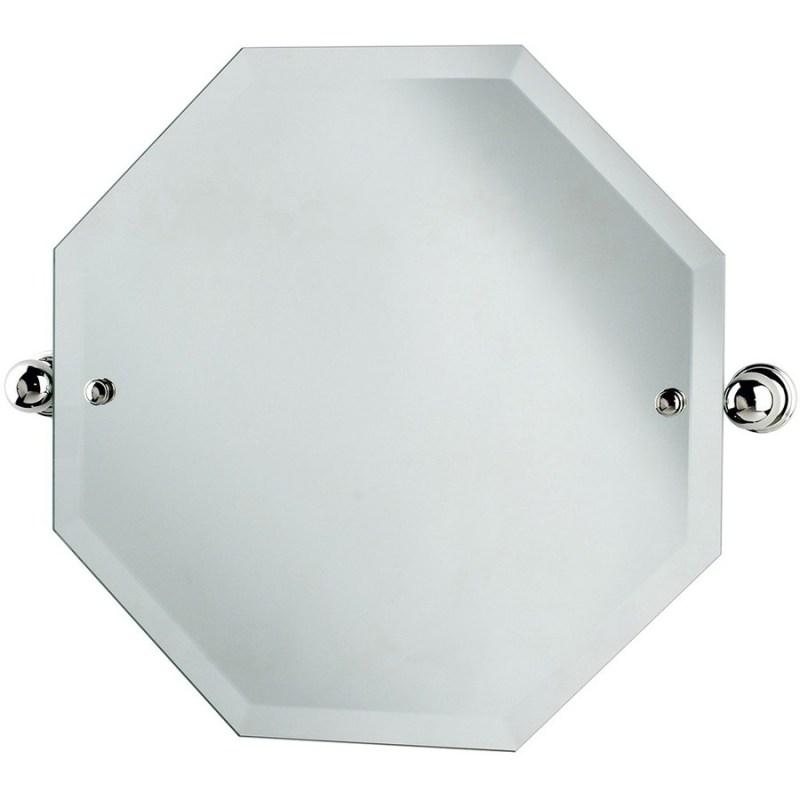 Perrin & Rowe Octagonal Mirror 500mm x 500mm Nickel