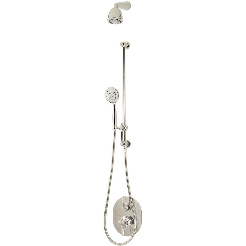 Perrin & Rowe Contemporary Shower Set B Two Pewter
