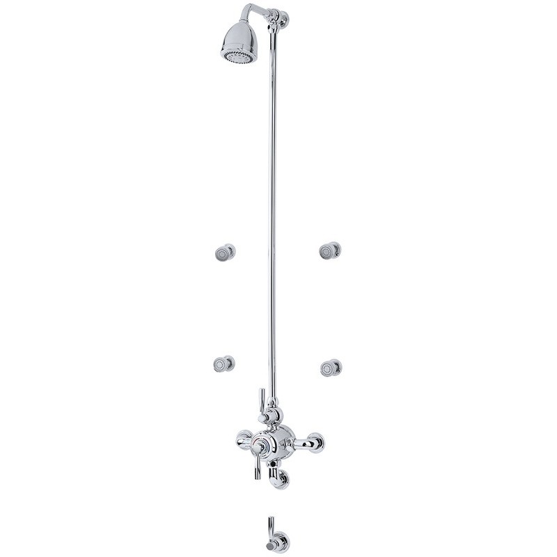 Perrin & Rowe Contemporary Shower Set D Two Nickel