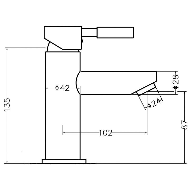 Premier Series Two Mono Basin Mixer