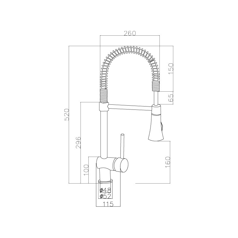 Premier Pull-Out Mixer Tap