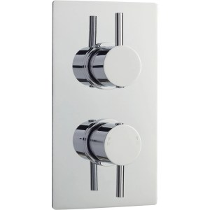 Premier Quest Twin Thermostatic Shower Valve with Diverter