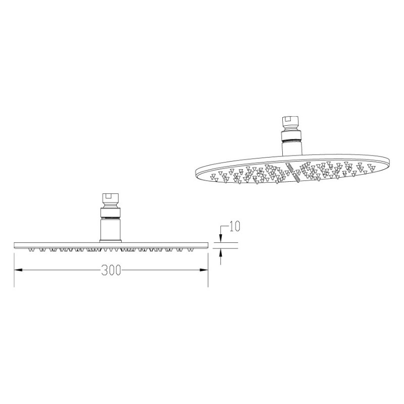 Premier Round LED Fixed Head 300mm