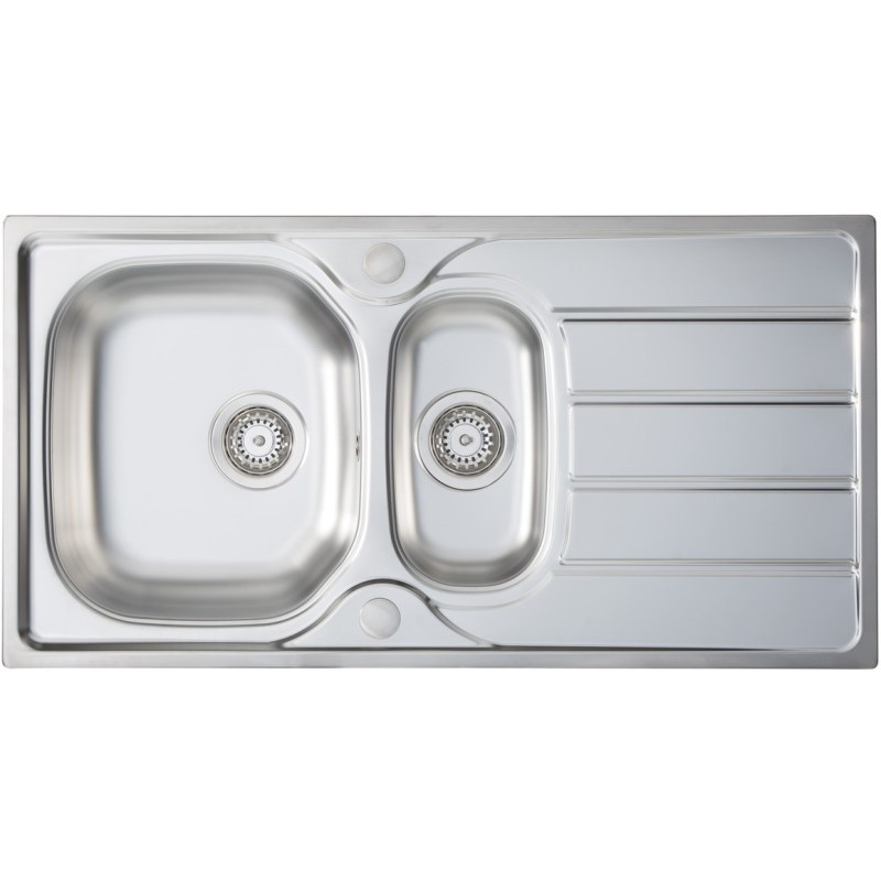 Prima 1.5B 965x500mm Inset Sink Stainless Steel