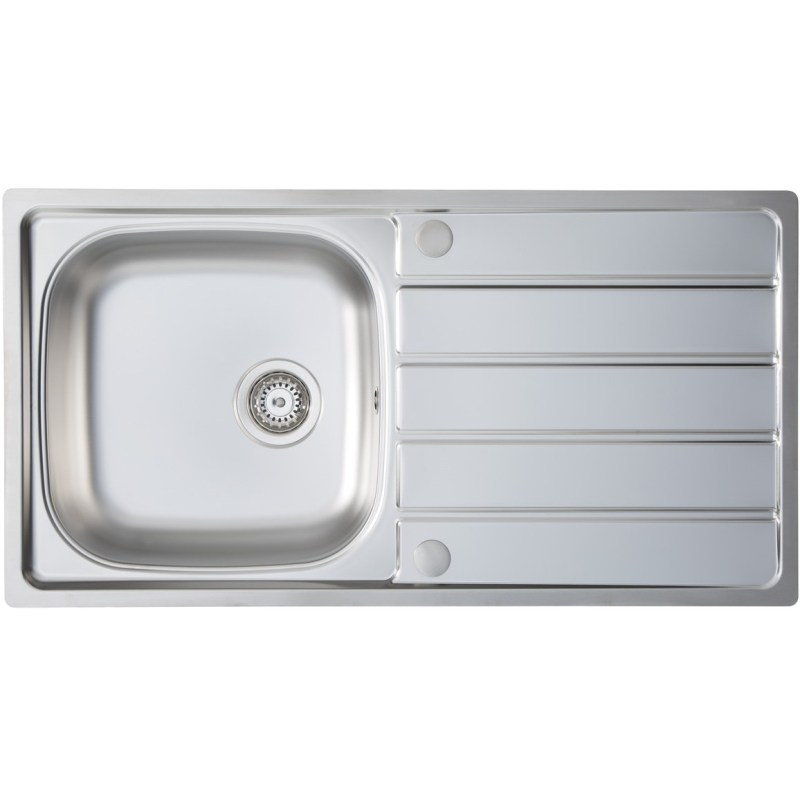 Prima 1B 965x500mm Stainless Steel Sink & Single Lever Tap Pack