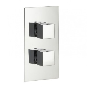 Pura Bloque2 Twin Outlet Two Handle Concealed Shower Valve