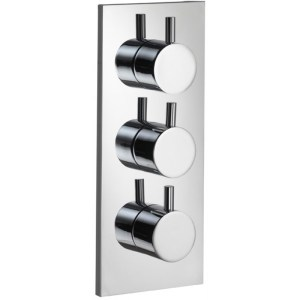 Pura Ivo Twin Outlet Triple Control Concealed Shower Valve