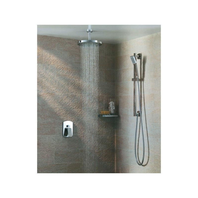 Pura Deluxe Round 300mm Brass Shower Head with Swivel Joint