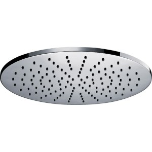 Pura Deluxe Round 400mm Brass Shower Head with Swivel Joint