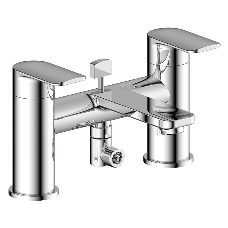 Pura Suburb Bath Shower Mixer with Hose, Handset & Bracket
