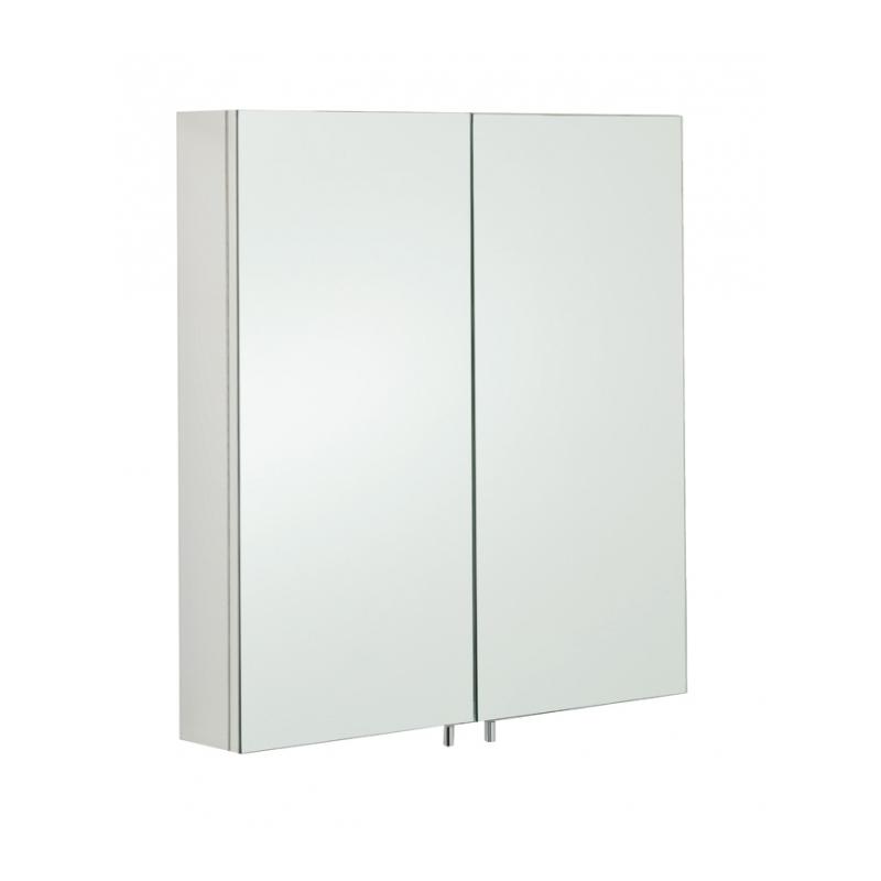 RAK Delta Stainless Steel Double Cabinet with Mirrored Doors