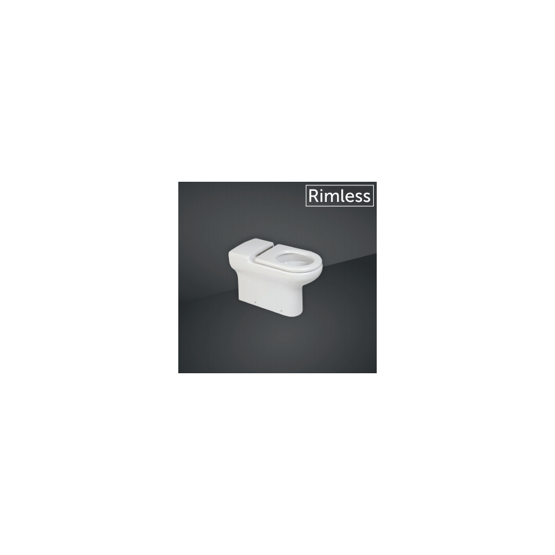 RAK Compact Special Needs 70cm Extended Rimless Back To Wall WC Pan