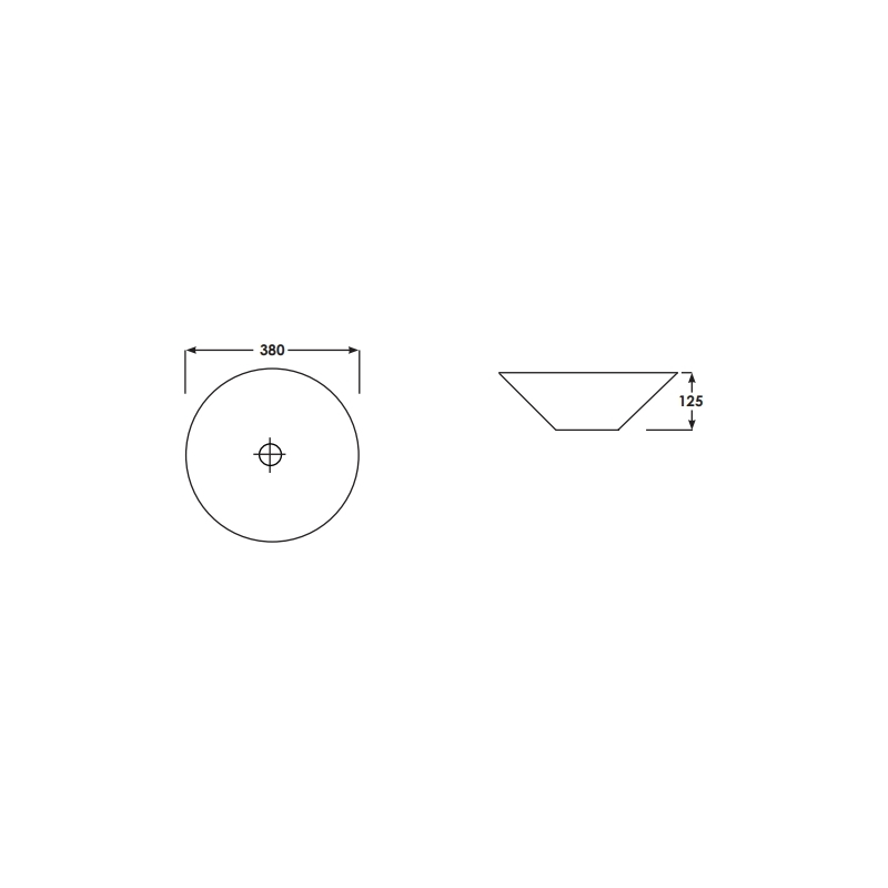 RAK Cone 38cm Bowl Sit On Wash Basin
