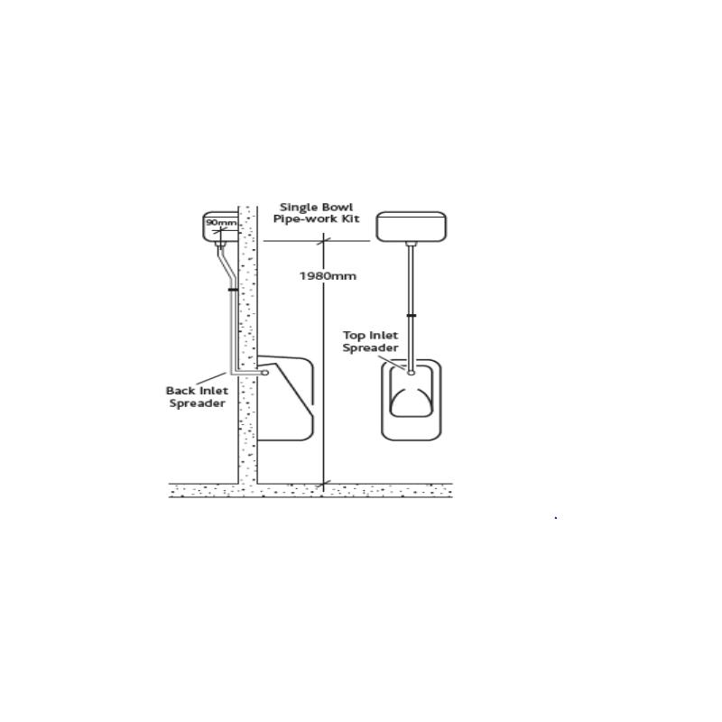 RAK Concealed 4.5 Litre Urinal Cistern Pack for 1 Urinal