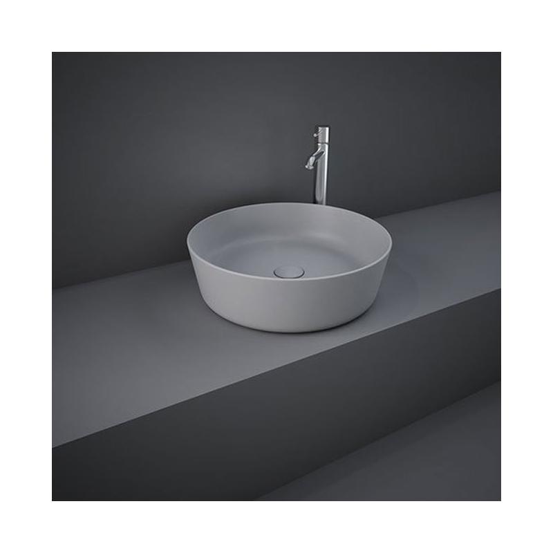 RAK Feeling 42cm Round Counter Wash Basin Matt Grey