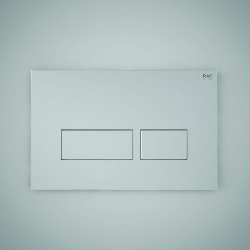 RAK Matt Chrome Flush Plate with Rectangular Buttons