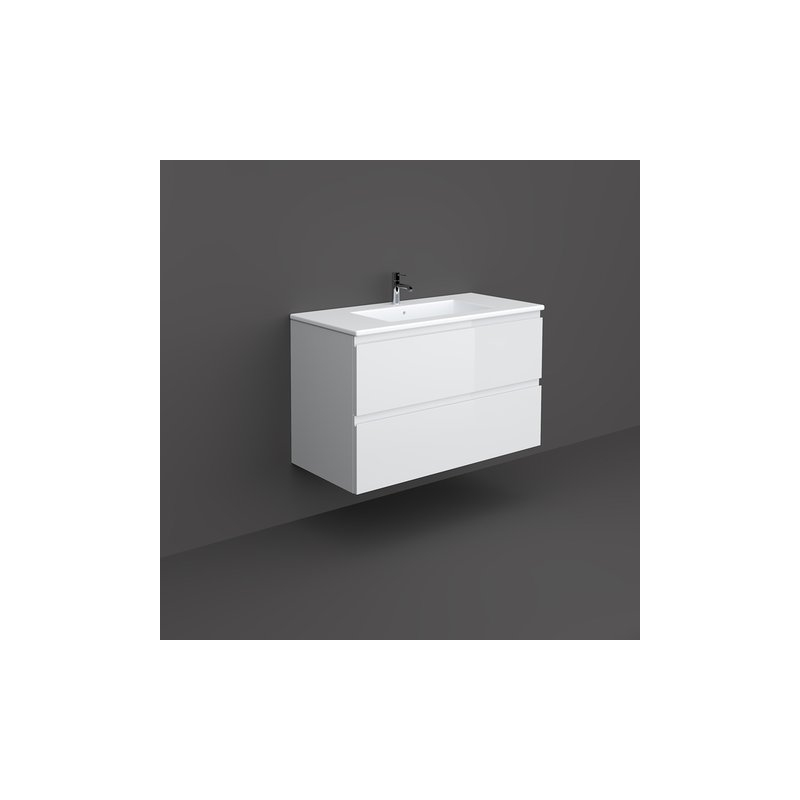 RAK Joy Wall Hung Vanity Unit 100cm Pure White
