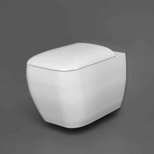 RAK Metropolitan Rimless Wall Hung Pan with Soft Close Seat