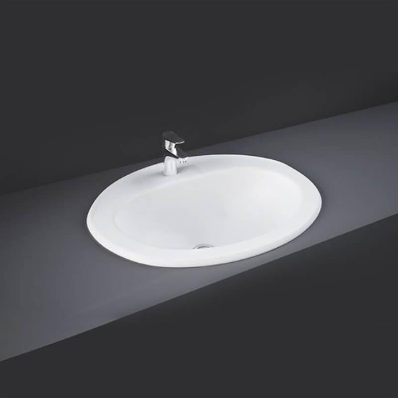RAK Mira 56cm Over Counter Wash Basin 1 Taphole