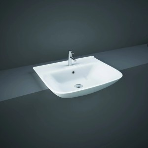RAK Origin 52cm Semi Recessed Basin 1 Taphole