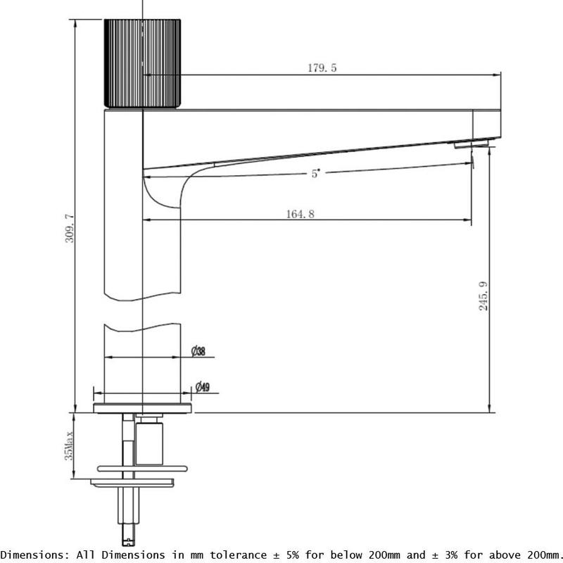 RAK Amalfi Tall Basin Mixer Chrome