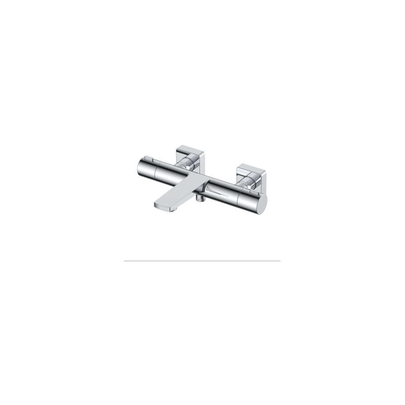 RAK Blade Wall Mounted Exposed Thermostatic Bath Shower Mixer