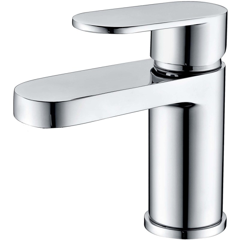 RAK Compact Eco Round Mono Basin Mixer with Clicker Waste Chrome