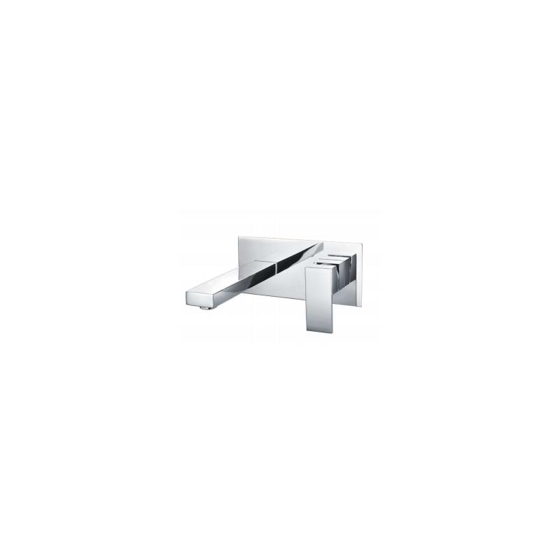 RAK Cubis Wall Mounted Basin Mixer with Back Plate