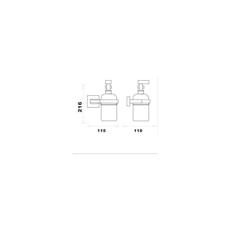 RAK Cubis Soap Dispenser Chrome