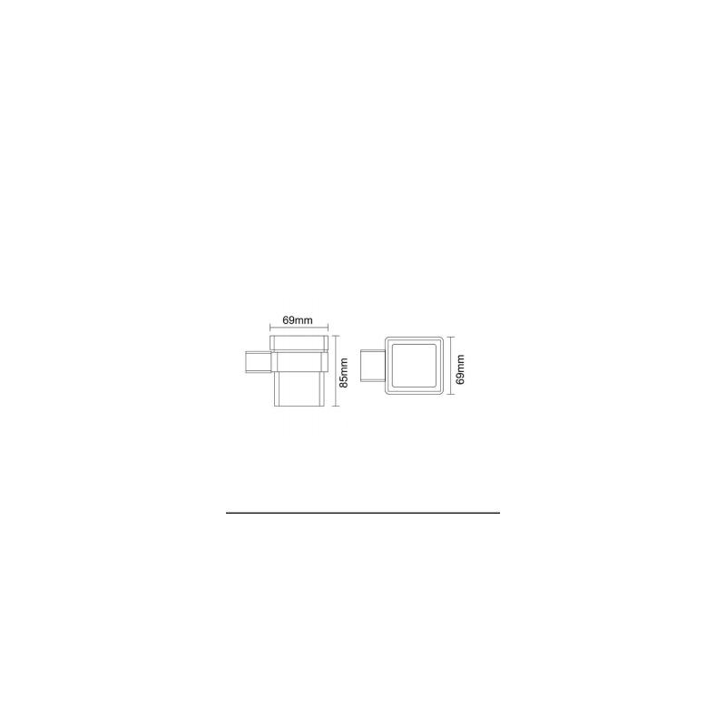 RAK Moon Single Tumbler Chrome