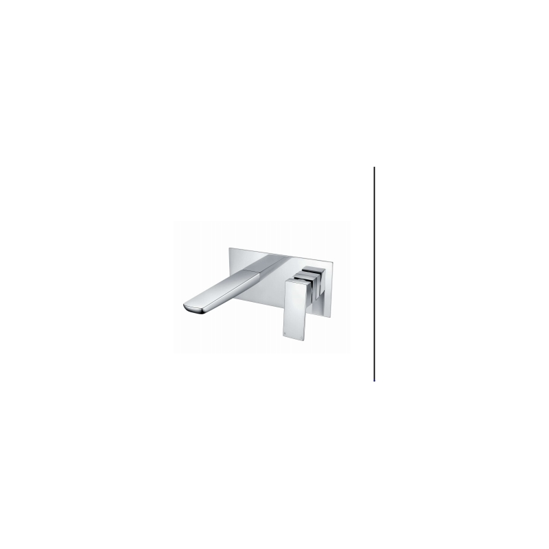 RAK Moon Wall Mounted Basin Mixer with Back Plate Chrome