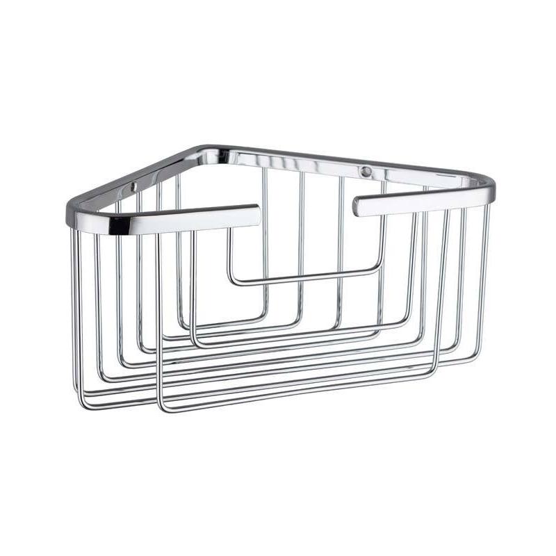 RAK Single Deep Corner Basket Chrome