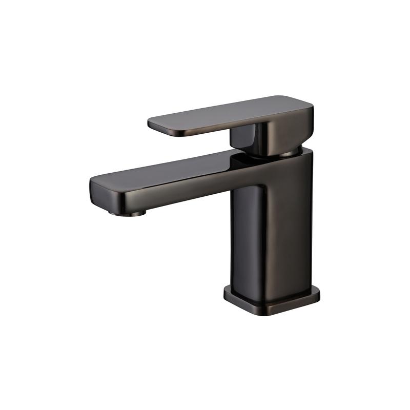 RAK Compact Eco Square Mono Basin Mixer with Clicker Waste Black