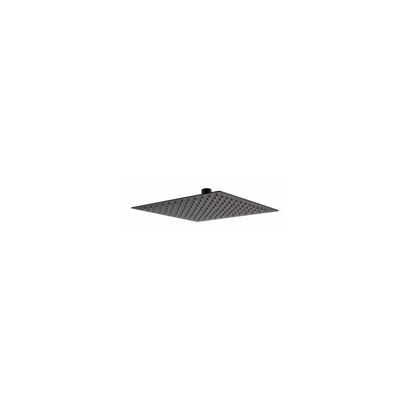 RAK Ultra Slim Air Induction Shower Head Square 250mm Black