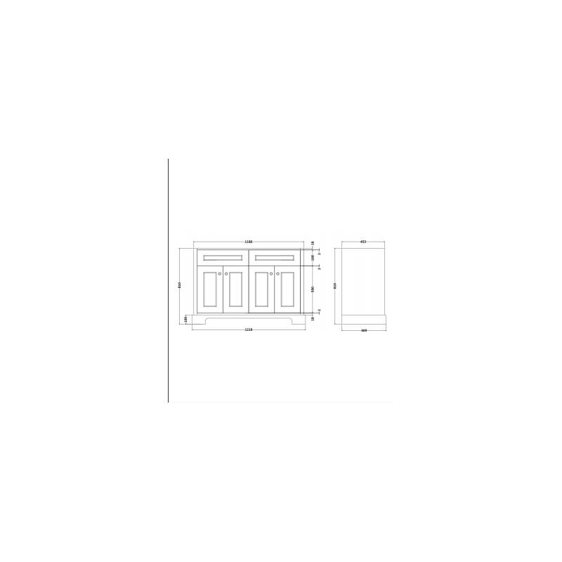 RAK Washington 1200mm Double Basin Unit Cappucino