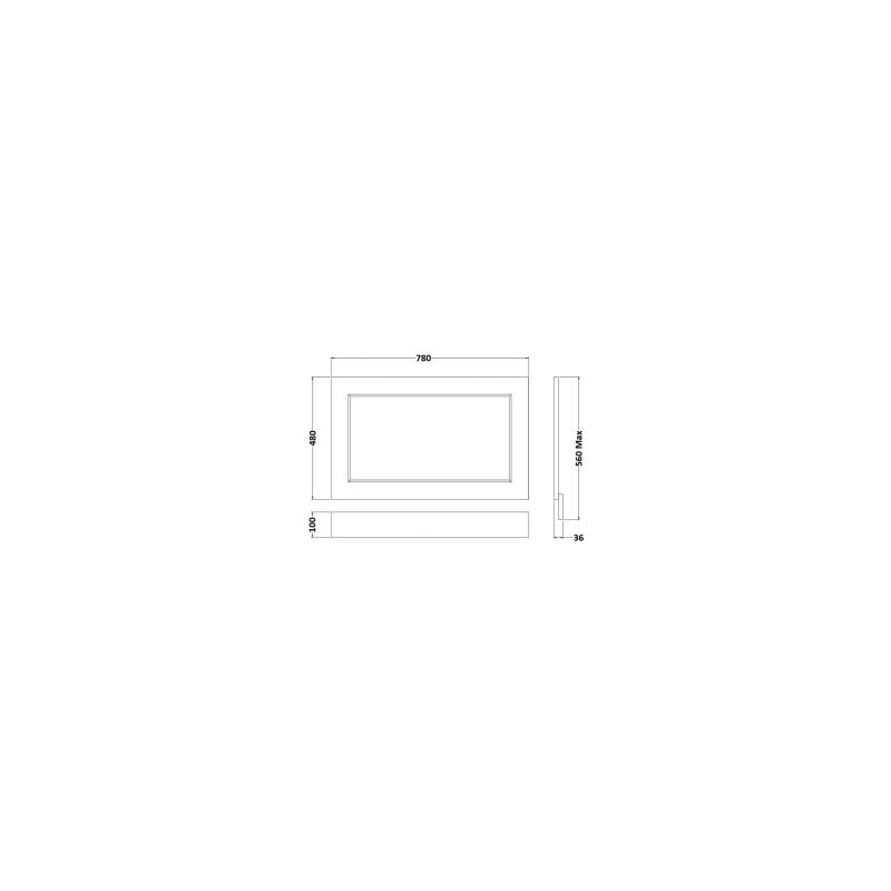 RAK Washington 800mm Bath End Panel Cappucino