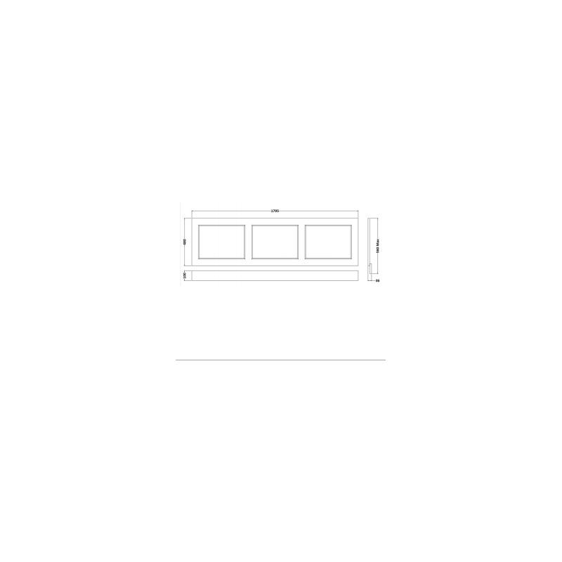 RAK Washington 1800mm Bath Front Panel Cappucino