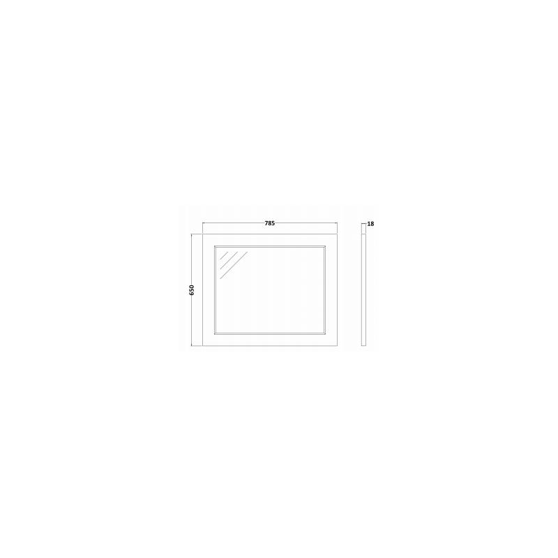 RAK Washington 800mm Flat Mirror Cappucino