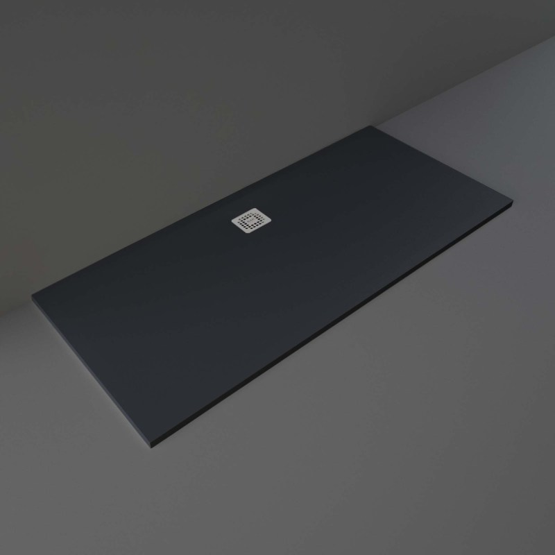 RAK Feeling Bathtub Replacement Shower Tray 80x180cm Solid Black