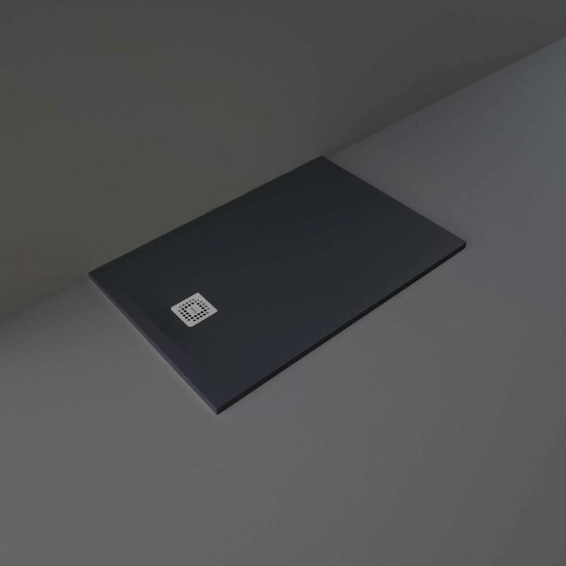 RAK Feeling Shower Tray Solid Black 80x120cm