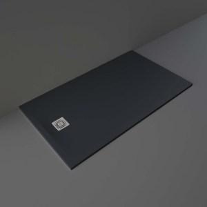 RAK Feeling Shower Tray Solid Black 90x160cm