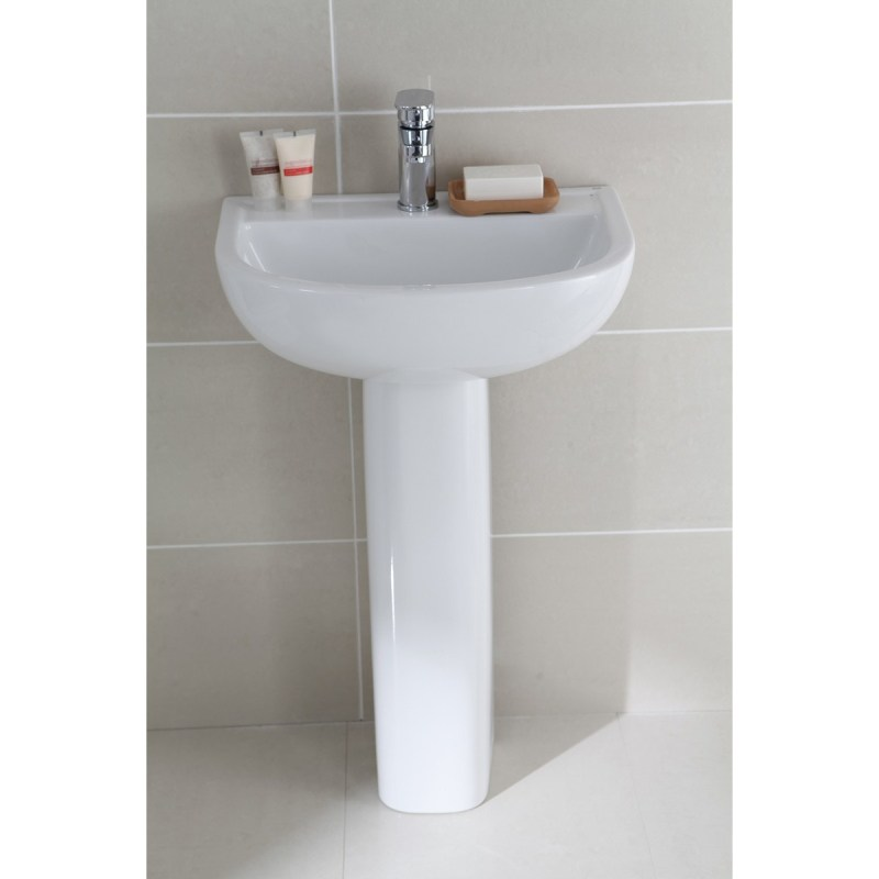 RAK Compact 1 Tap Hole 450mm Basin with Full Pedestal