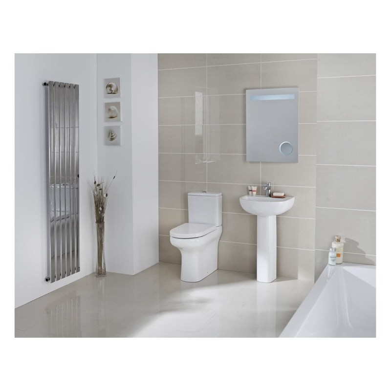 RAK Compact Rimless Flush to Wall Toilet with Soft Close Seat